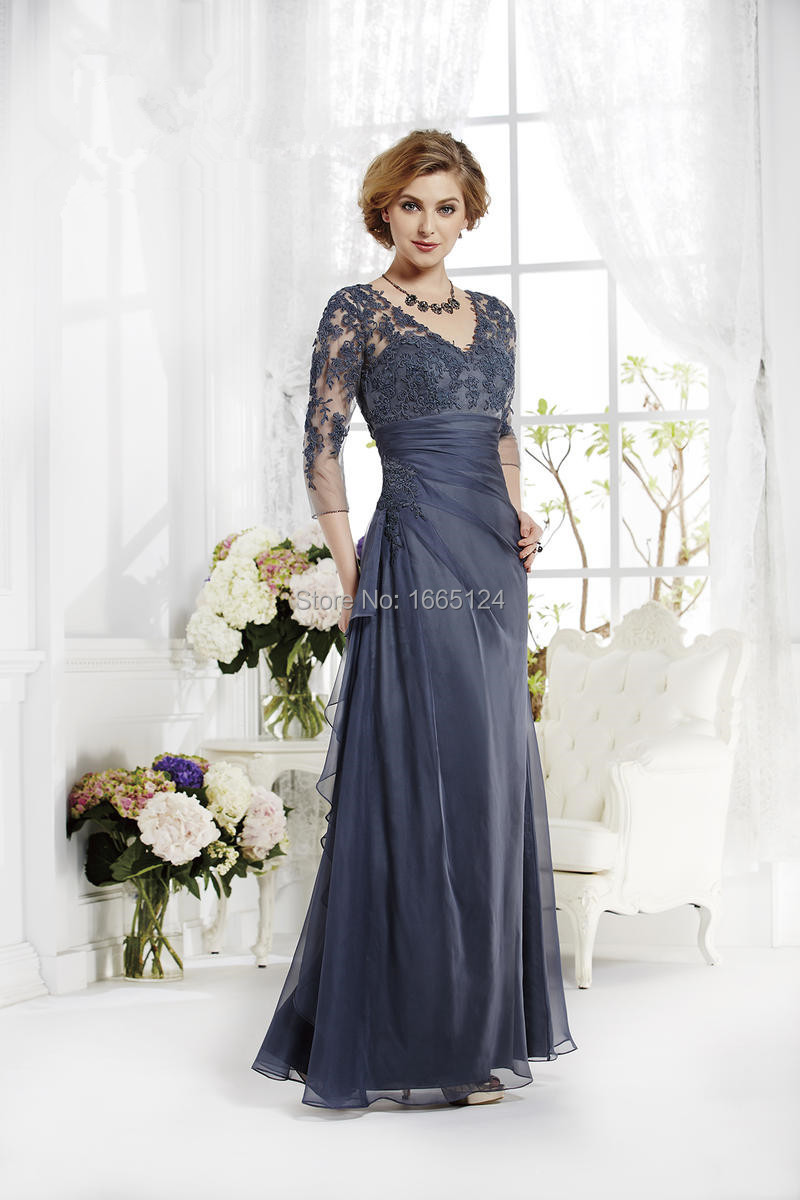 2015 Gray Mother Dress Lace Mother Of The Bride Dresses