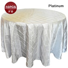 "Factory Wholesale 10PC/Lot 90"" Round Table Cloth Polyester Taffeta Opaque Table Linen of Wedding Marriage Party Hotel Outdoor(China (Mainland))"
