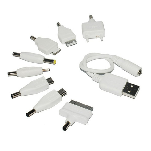 Universal charger cable with USB Port,power cable Micro USB Cable Data transfer,Charging cable + 8 pcs * different connectors
