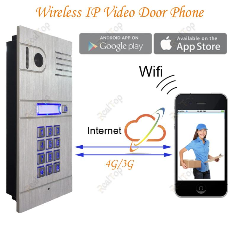 Smart Ip Video Door Phone Wireless Ip Video Door Phone