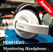 Super Promotion white color Superlux hd681evo Dynamic Semi-open Professional Audio Monitoring Headphones Detachable Audio Cable(China (Mainland))