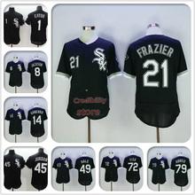 Mens Flexbase baseball black jersey #1 Adam Eaton #21 Todd Frazier #45 Michael Jordan #49 Chris Sale 100% stitched white(China (Mainland))