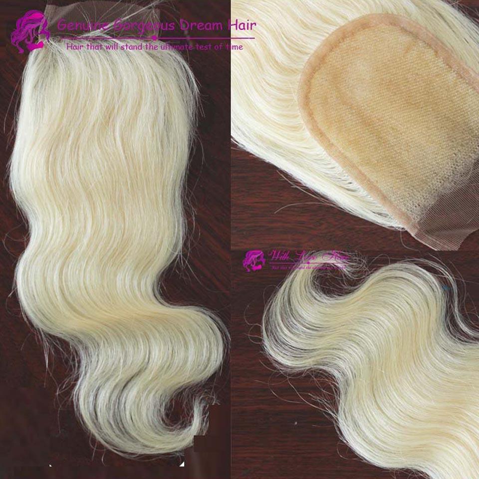 Cheap Blonde Body Wave Lace Closure Bleached Knots Free Part &amp; Middle Part 3 Part Human Virgin Hair Swiss 613 Lace Closures<br><br>Aliexpress