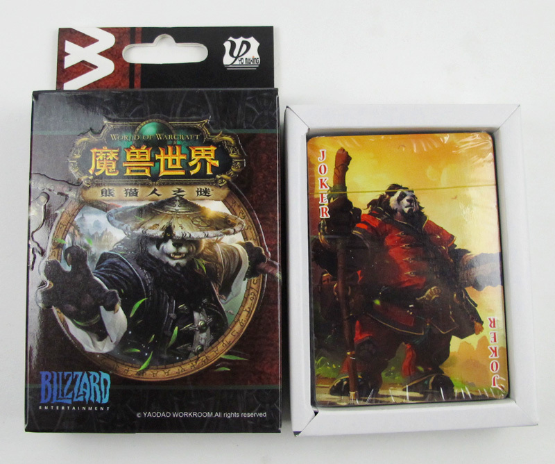 Игральные карты World of Warcraft WoW Warcraft Mists of Pandaria 3 in 1 world of warcraft wow resin action figure display set tauren witch doctor warlock