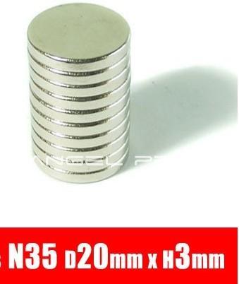 Гаджет  In stock 10Pcs/Lot 20mm x 3mm Disc Rare Earth Neodymium Super Strong Magnets N35 Craft Model Free Shipping None Строительство и Недвижимость