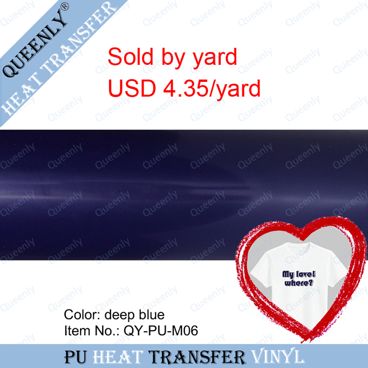 PU heat transfer vinyl film for clothing sold by yard 5 yards/pack width 18.9inch(China (Mainland))