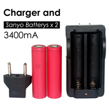 Sanyo New Original 18650 3.7V 3400mAh battery rechargeable batteries NCR18650BF safe industrial use+Charger - Shenzhen Yinqian Store store