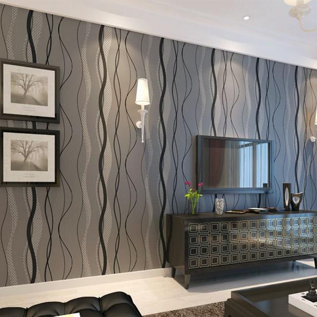 Wohnzimmer Modern : Tapeten Wohnzimmer Modern Grau ~ Inspirierende ... Graue Tapete Wohnzimmer