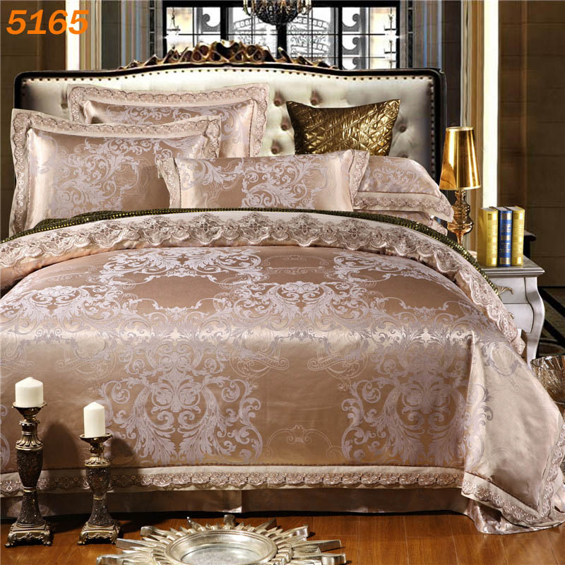 NEW design silk bedding sets tencel bed set silk/cotton A/B side comforter cover cotton bedsheet European style pillowcase B5165(China (Mainland))
