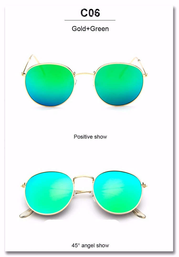 Luxury Brand Design Round Sunglasses Women Men Brand Designer Vintage Retro Mirror Sun Glasses For Women Female Ladies Sunglass (23)