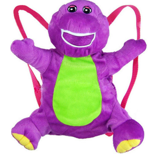 Brand NEW Soft 20in Barney Plush Doll Backpack The Dinosaur Heart Purple Bag #LC(China (Mainland))