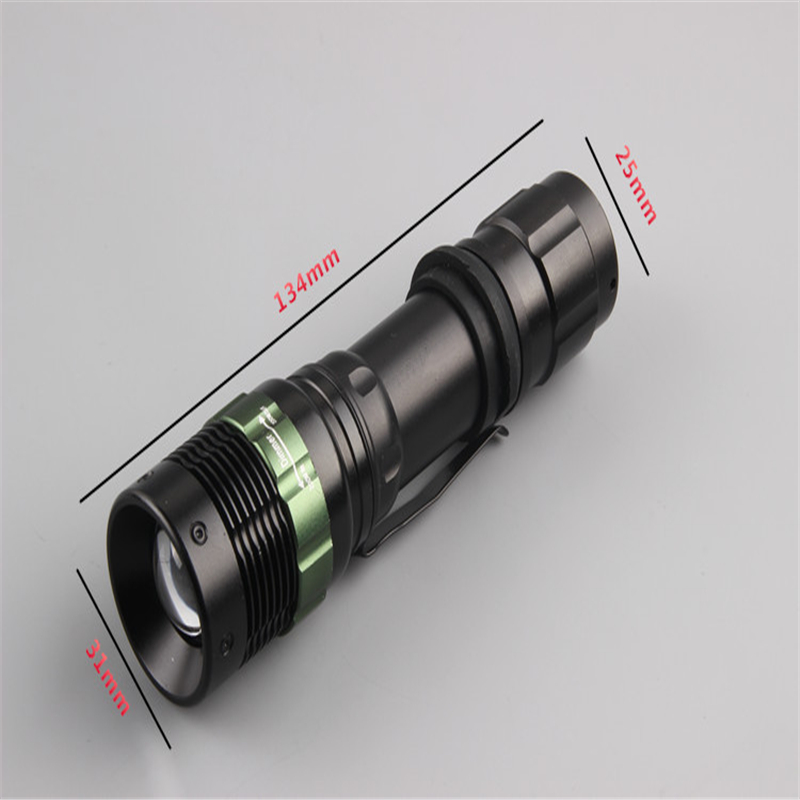 200 Lumen Zoomable CREE XPE Q5 LED Flashlight Torch Zoom Lamp Light camp outdoor survival tool Flashlight Black(China (Mainland))