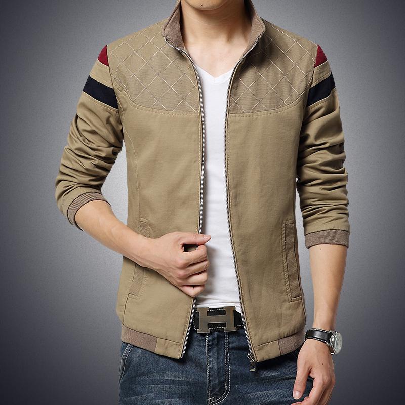 men trend patchwork korean slim fit mens designer clothes cotoon men