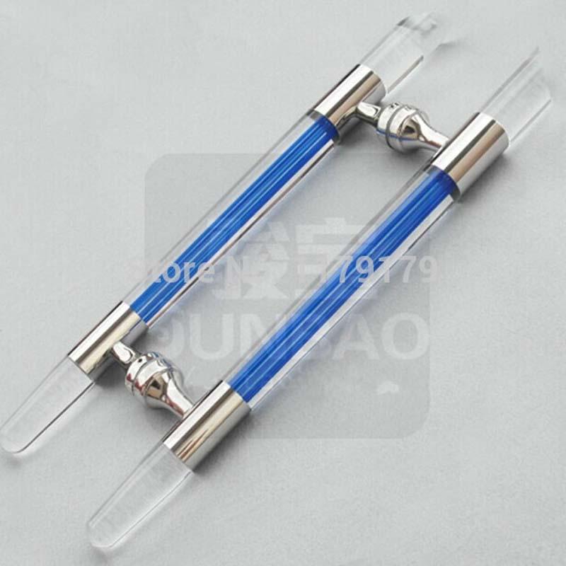 Blue crystal 304 stainless steel glass door 600MM entrance glass door pull  door accessories hardware JB208C<br><br>Aliexpress