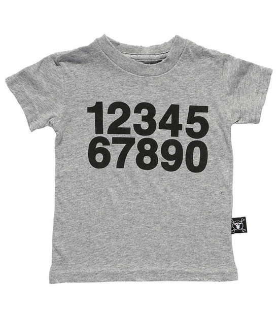 2015 Nununu Shirts Cotton Short Sleeve Numbers Print Baby Boys Girls T shirt Children's Clothing Kids Summer Style Clothes YA133(China (Mainland))