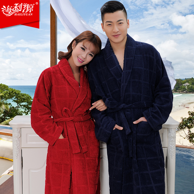 100% terry cotton dark color bathrobes  thickening robe comfortable home robeОдежда и ак�е��уары<br><br><br>Aliexpress