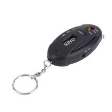 Mini Portable Digital Alcotester 3 Flashlight Keychain Breathalyzer Alcohol Tester Red LED Light Alarm Alcohol Detector