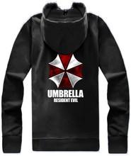 Umbrella Resident Evil Movie Hooded Jacket Zipper Hip Hop Hoodies And Sweatshirt 2016 Spring Autumn Coat Sportswear Tracksuits