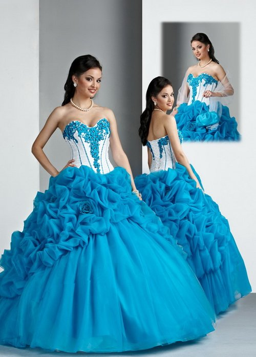 Blue And White Ball Gowns 2013 New Arrival!! New...