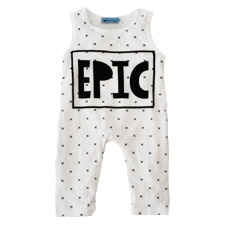 2017 High Quality Infant Baby Clothes Romper Summer Fashion Letter Style Baby Infant Romper 2017 White Cross Jumpsuit Girl Boy(China (Mainland))