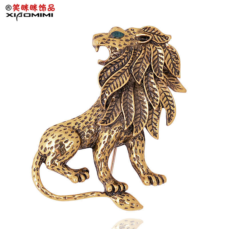 Suit suit brooch fashion personalized accessories lion animal badge brooch(China (Mainland))