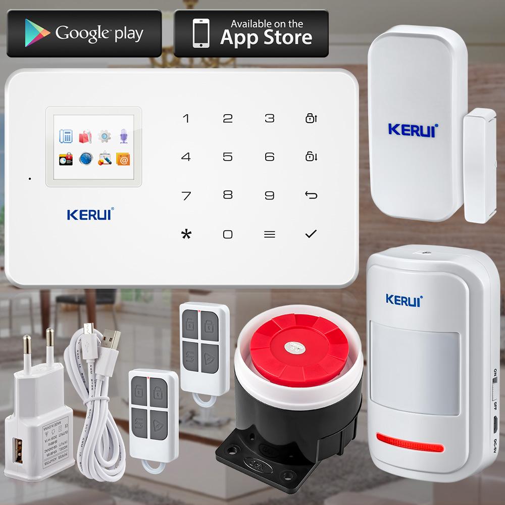KERUI Factory G18 Android ISO App Wireless GSM Home Alarm System SIM Smart Home Burglar Security Alarm System Kit PIR infrared(China (Mainland))
