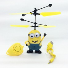 Despicable Me Mini RC Helicopter Induction Flying Minion Remote Control drones Minions helicoptero juguetes Kids Electronic Toys