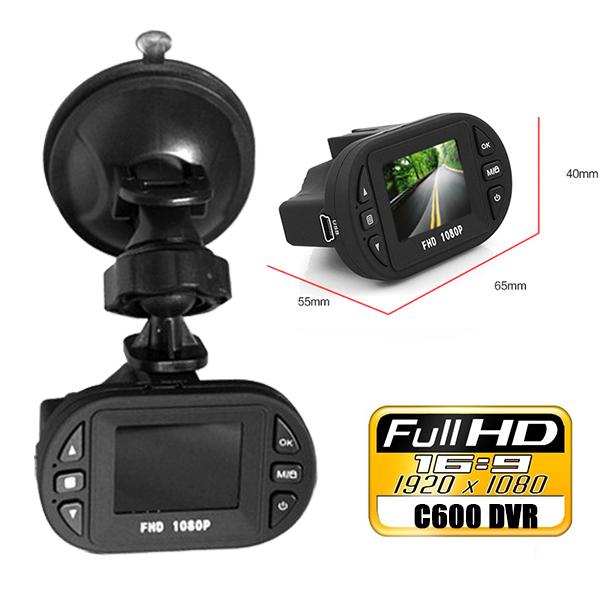 Mini Full HD 1920*1080P 1.5 inch Car DVRS C600 LCD Screen Vehicle Black Box DVR Camera Video Recorder IR Night Vision - LIONSTAR Electronic Mall store
