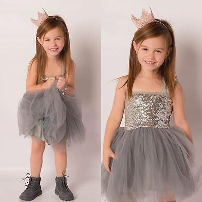 Toddler Baby Girls Dress Sequins Tulle Party Gown Formal Dresses Halter Sundress(China (Mainland))