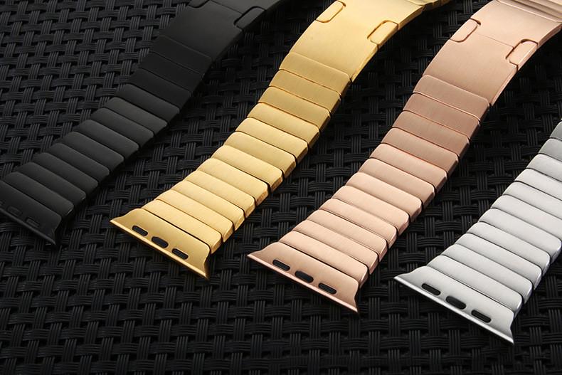 Цепь из нержавеющей Стали Форме Ремешок Оригинальная Застежка Для Apple Watch iwatch группы С Разъем Адаптера 38mm42mm