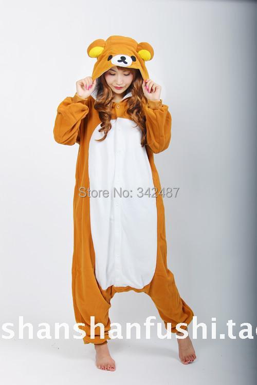30.jpg ...  sc 1 st  DHgate.com & Wholesale Unisex Bear Pajamas Adults Animal Rilakkuma Onesie Easy ...