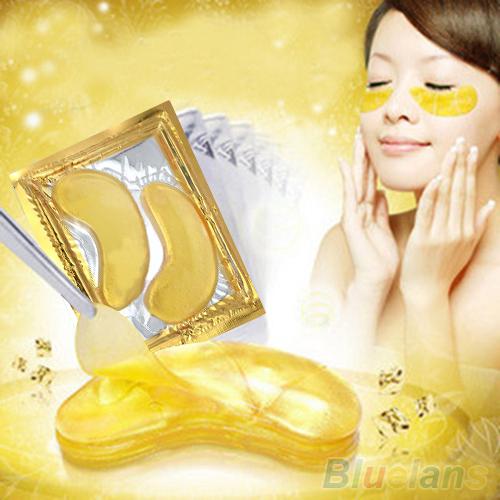 5 упак. увлажняющий глазных повязок лист красоты золотой кристалл коллагена маска ...