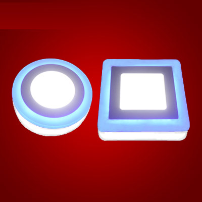 Slim LED Panel Light double-color ktv ceiling light three-Section switch Round Square obvious install 3W6W12W18W<br><br>Aliexpress
