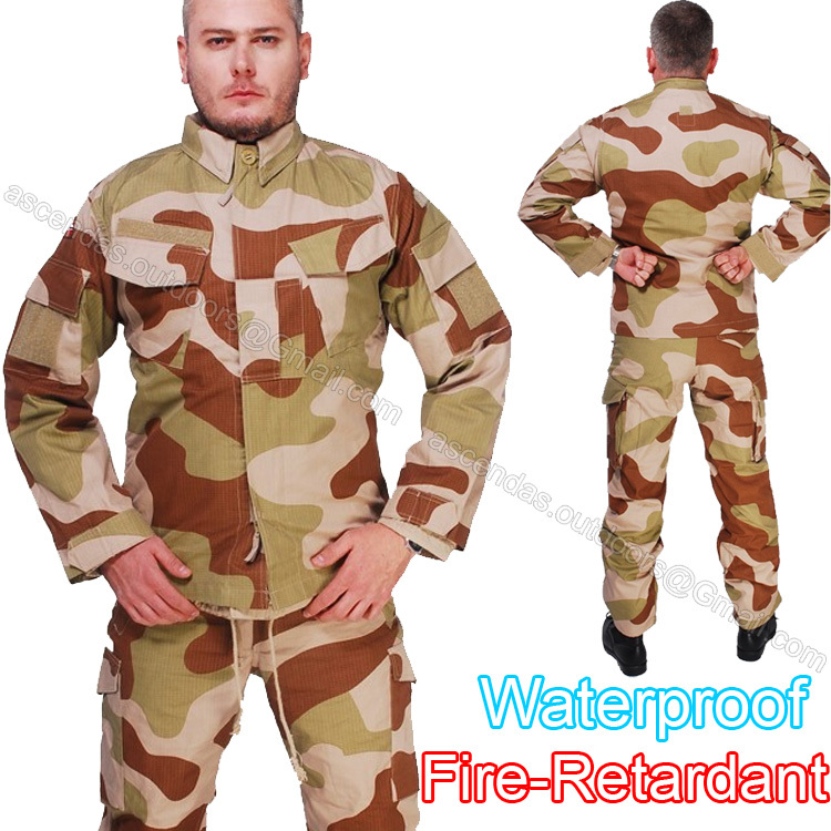 Norway Army Desert camouflage suit Waterproof Retardant BDU hunting Airsoft Military uniform Tactical Paintball Shirt Pants - Ascendas Outdoors store