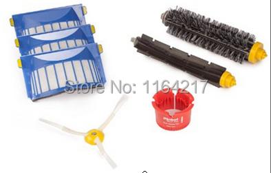 Гаджет  3X Aero Vac Filters + Bristle Brush + Beater Brush kit for iRobot Roomba 600 Series 620 630 650 660 vacuum cleaner accessories None Бытовая техника