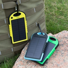 5000mAh power bank Waterproof Solar power portable power charger for Outdoor powerbank backup power supply battery cell phone(China (Mainland))