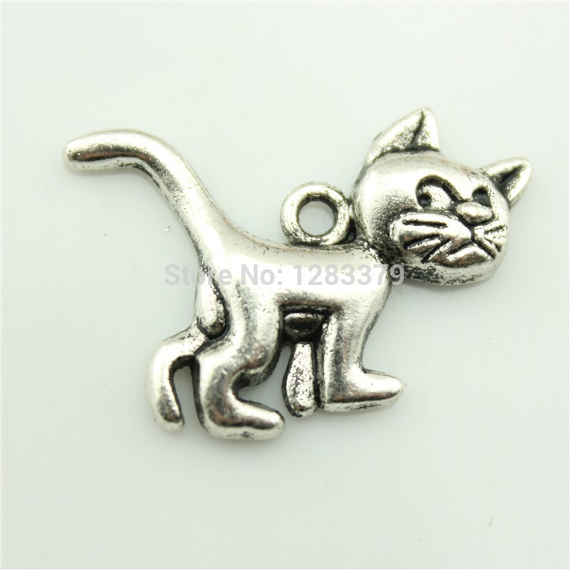 Charms Cat 40 pieces/lot Size:30*22mm No.S02641 Hot Sales Antique silver DIY Retro Jewelry Accessories Vintage(China (Mainland))