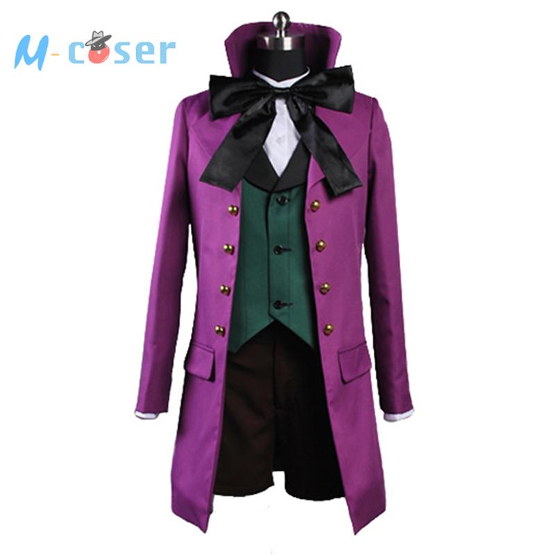 Black Butler 2 II Alois Trancy Uniform Purple Coat Pants Shirt For Men Anime Halloween Cosplay Costume Custom Made Version BОдежда и ак�е��уары<br><br><br>Aliexpress
