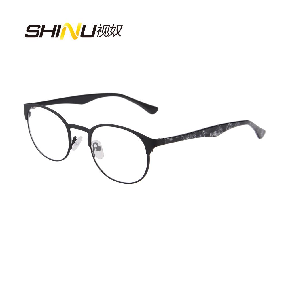 2016 new designer woman glasses optical frames metal round glasses frame clear lens eyeware black silver red eye glass sr8026