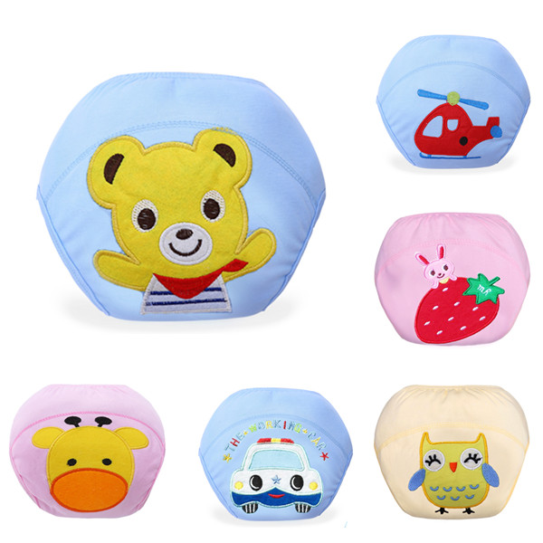 1 piece Baby Underwear Reusable Diaper Cover Infant Animals Potty Washable Training Pants Free Shipping(China (Mainland))
