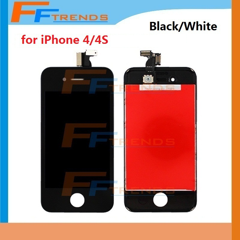 Replacement LCD Touch Screen Digitizer Assembly for iPhone 4 4S LCD GSM AT&TCDAM Balck or White Free Shipping Cheap Price(China (Mainland))