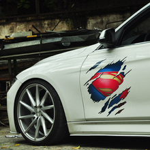 Superman design vinyl printed car decal,car stickers and decorate ,car body styling sticker for FORD/VW/HONDA/MAZDA/KIA/TOYOTA