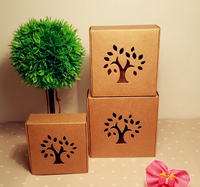 Size:8.5*8.5*3.5cm wholesale Gift Box Handmade Soap Cosmetic Kraft Brown Boxes Packaging Paper Box Custom Boxes