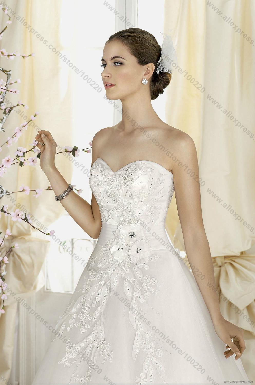 Aimili luxurious short tea length wedding dress 2014 for Us size wedding dresses