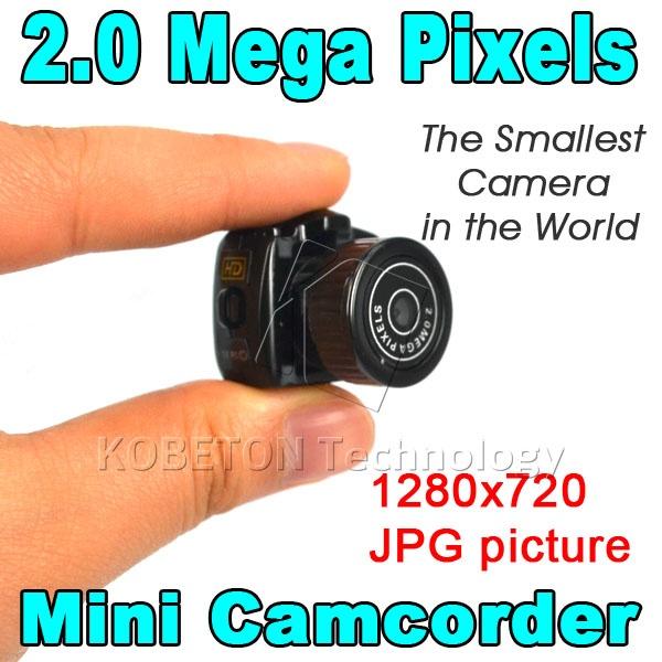 Hot Y2000 Smallest Cmos Super Mini Video Camera Ultra Small Pocket 720*480 DV DVR Camcorder Recorder Web Cam 720P JPG Photo(China (Mainland))