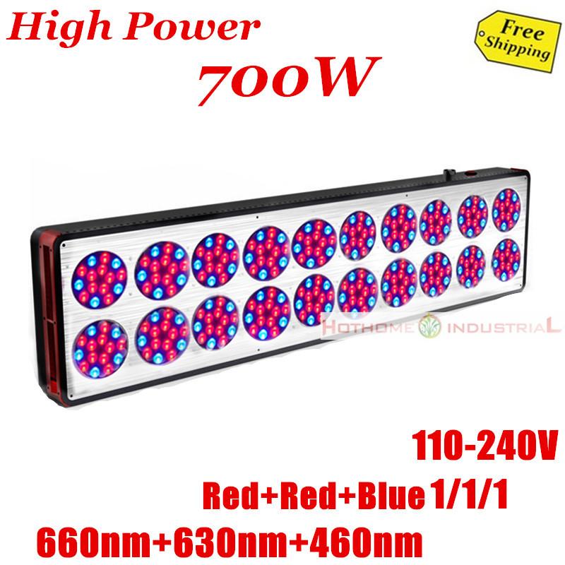Free Shipping 700w apollo led grow light hydroponic grow box (Red 660nm 630nm 200pcs,Blue 460nm 100pcs,2/1)(China (Mainland))