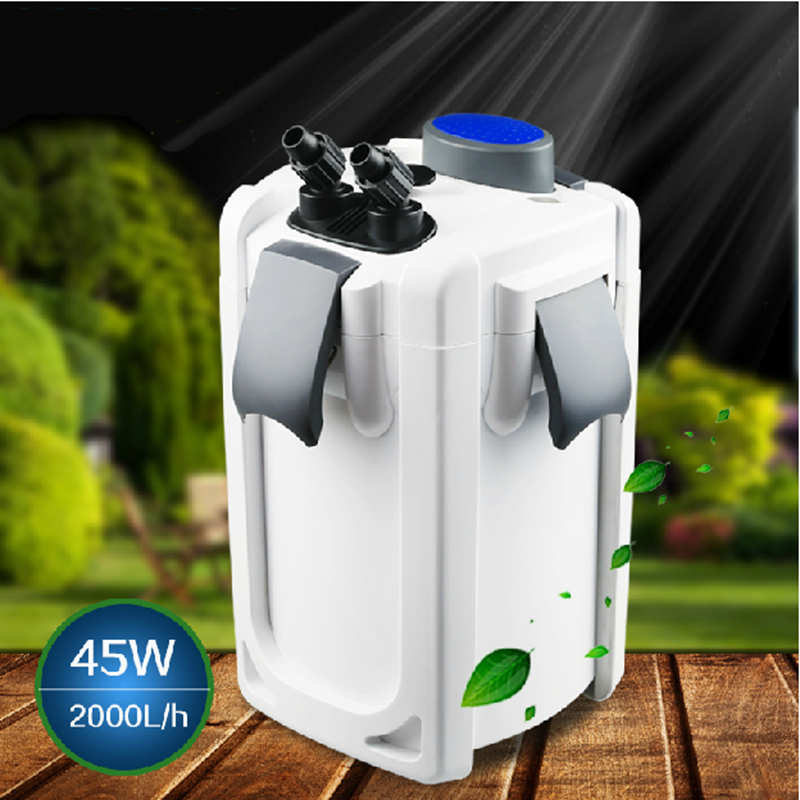 Aquarium quiet external filter 220 240v 2000l h with uv for Outdoor fish tank filter