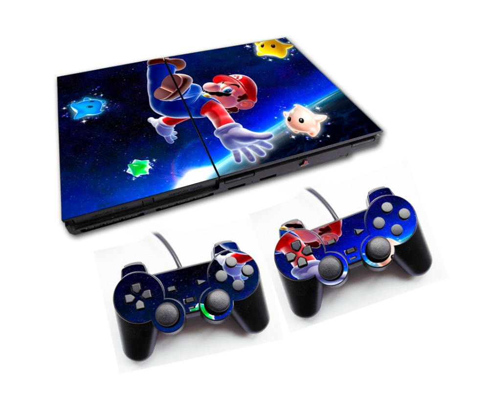Hot Sale Spider Man Style and other 105 Designs Game Decal Skin Stickers For PS2 Console with 2PCS Stickers For PS2 Controller(China (Mainland))