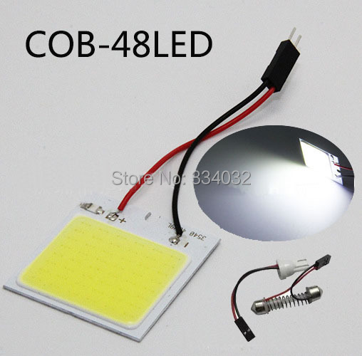 c5w cob 48 SMD chip super  White Reading Lamp 12v cw led dome Bulb led Car parking Auto Interior Panel Light Festoon car styling(China (Mainland))