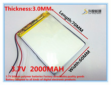 Buy 3.7V 2000mAh Lithium Polymer LiPo Rechargeable Battery cells power PAD GPS PSP Vedio Game E-Book Tablet PC Power Bank 306070 for $5.99 in AliExpress store